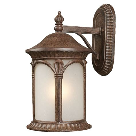 weathered bronze and white seedy glass exterior wall light fixture ebay