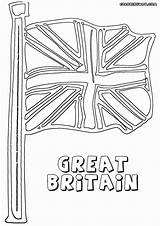 Coloring Flag England British sketch template