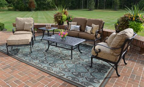 amalia 6 luxury cast aluminum patio furniture