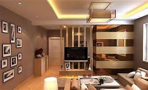 Interior design tv wall partition living room