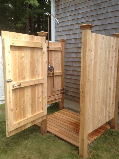 outdoor shower build hawk haven
