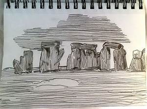 Stonehenge Etching Sketch