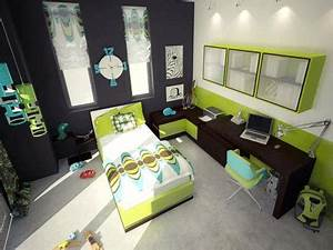 again with the black on just one wall and the neon green