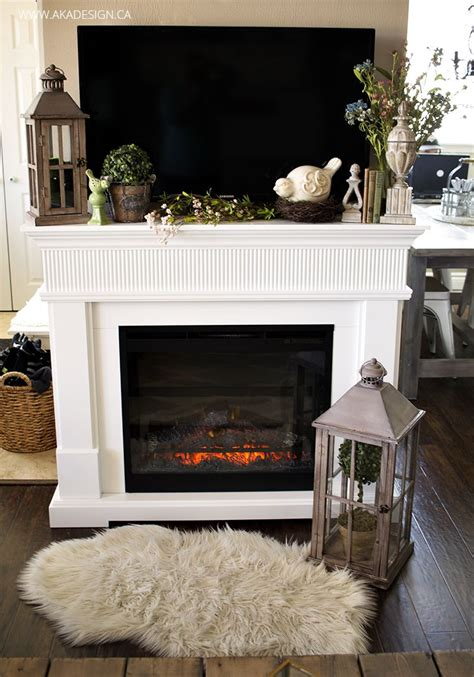 spring home  tv decor farmhouse fireplace mantels