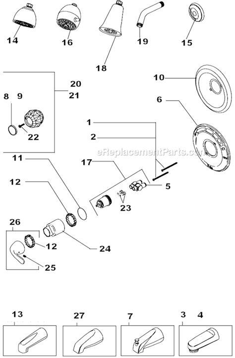 delta faucet  ho parts list  diagram ereplacementpartscom
