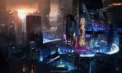 Cyberpunk Cyber Digital Desktop Wallpapers Futuristic Fantasy