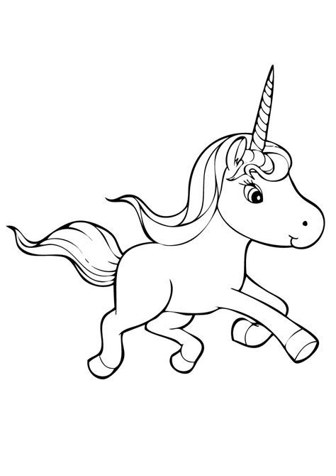 Kleurplaat Kawaii Unicorn by Unicorn Coloring Pages Getcoloringpages
