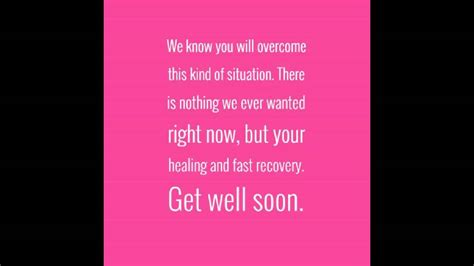 Hope You Feel Better Soon Quotes Youtube