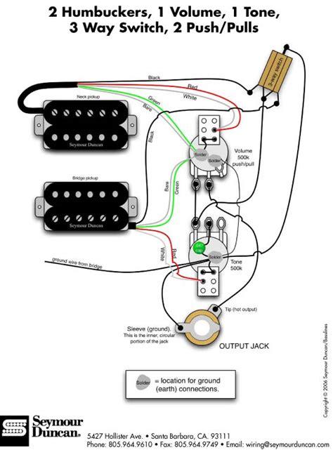 seymour duncan rodded humbucker set wiring diagram