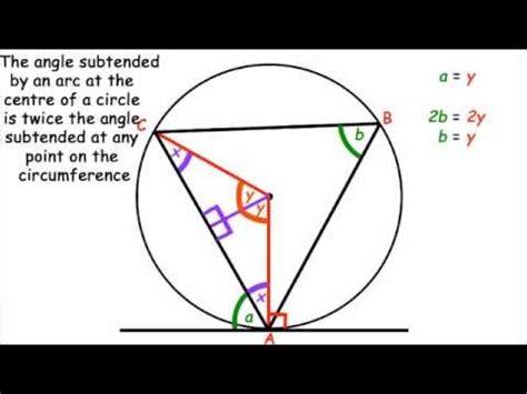 circle theorem proof alternate segment theorem youtube