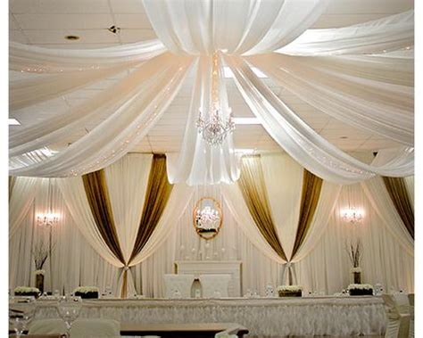 How To Hang Ceiling Drapes For A Wedding by Wedding Decorations Wedding Supply Outlet