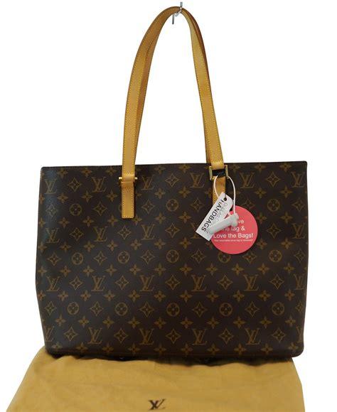 authentic louis vuitton monogram luco tote handbag tt