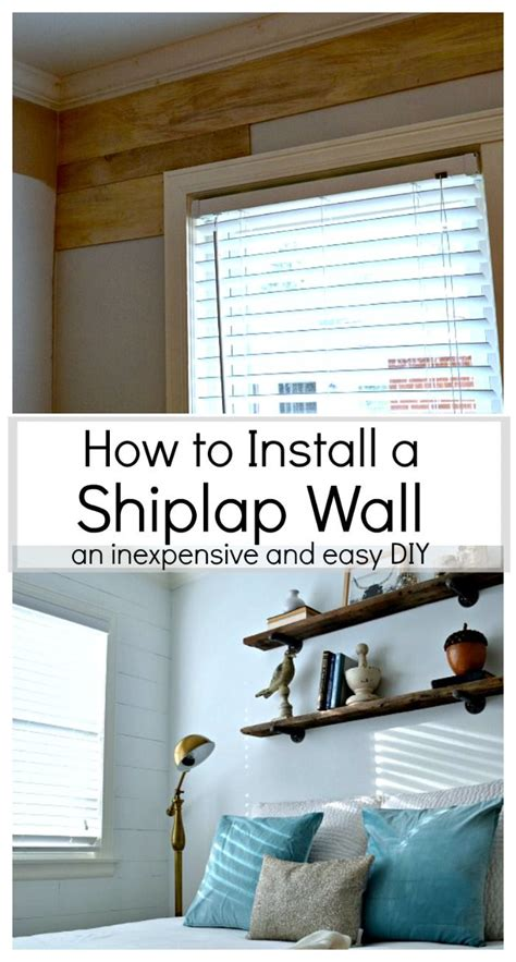 installing shiplap how to install a shiplap wall home planked walls and