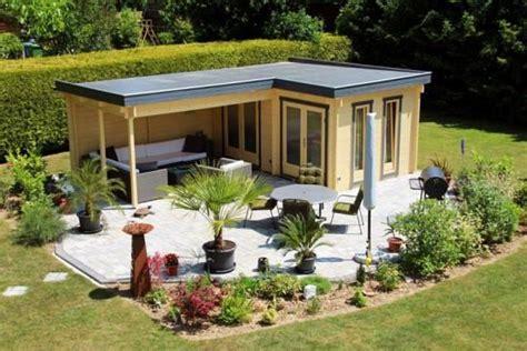 gartenhaus l form kundenbild pultdach gartenhaus 40 mit anbau schleppdach iso hogar flachdach