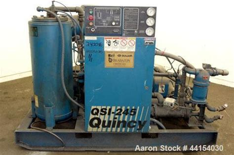 Used Quincy Qsi Water Cooled Rotary Screw