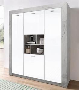 Highboard Weiß Hochglanz : highboard breite 120 cm online kaufen otto ~ Markanthonyermac.com Haus und Dekorationen
