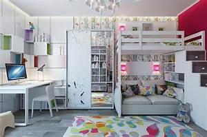 amenagement chambre denfant dans un appartement design With chambre pour deux enfants