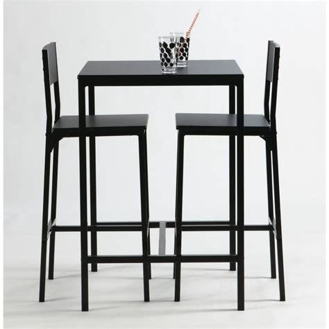 table et chaise de bar ensemble table haute et chaise de bar noir by drawer