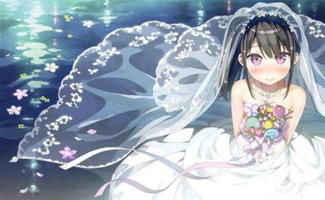 Anime Wedding Wallpaper - wallpaper anime black hair flowers wedding