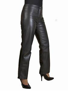 womens low waist black leather trousers tout ensemble With letter pants