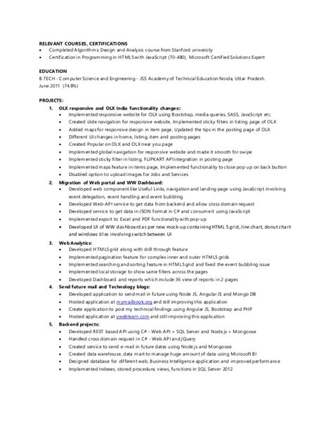 Resume With Coursework Listed by Yogesh Singh Resume