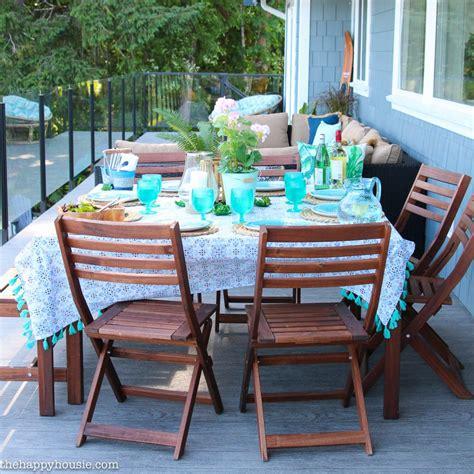 beachy boho outdoor dining room deck reveal part