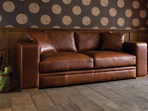 canape cuir vieilli vintage l shaped brown leather sleeper sofa with chaise lounge
