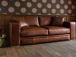 l shaped brown leather sleeper sofa with chaise lounge With canapé cuir brun
