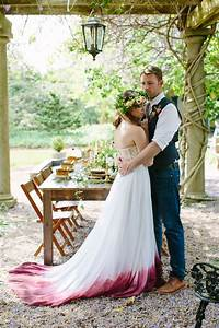 dip your wedding gown in colorful paint to make it more With dip dye wedding dress