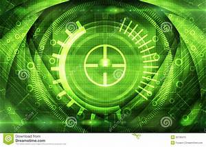 Abstract Dark Green Technical Background Stock ...