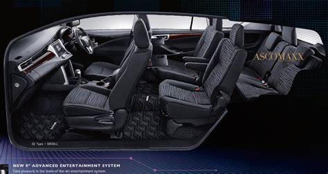 toyota innova designed  rear comfort  priority