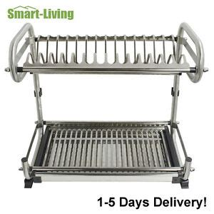 stainless steel  tier wallfloor mounted kitchen dish rack bowl storage holder ebay