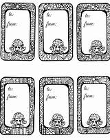 Tags Gift Poodle Coloring Unique Adult Crafts Easy sketch template