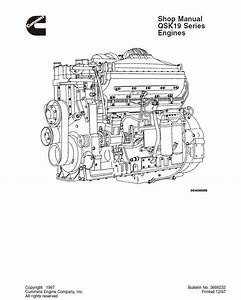 Cummins Qsk19 Series Diesel Engine Shop Repair Manual