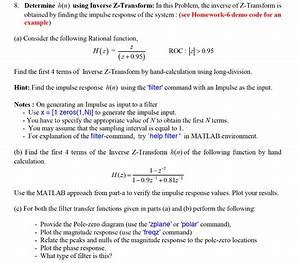 Solved  Determine H N  Using Inverse Z