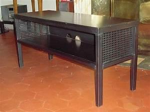 Meuble Tv 1m : meuble tv x ht acier patin le dire c 39 est bien le fer c 39 est mieux ~ Teatrodelosmanantiales.com Idées de Décoration