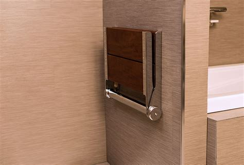 serenaseat wall mounted shower seat invisia collection