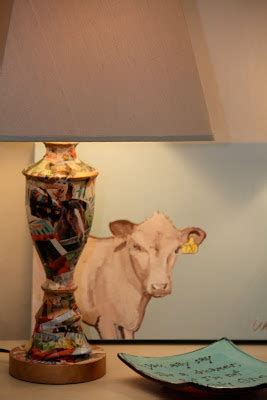 You Decoupage a Lamp