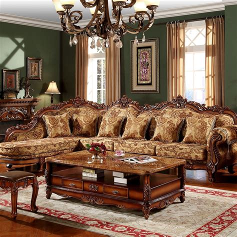 lounge lot traditional sectional sofa  hotel