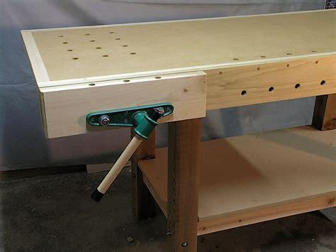 woodworking bench vise installation workbench