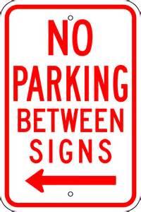 No-Parking Between Signs