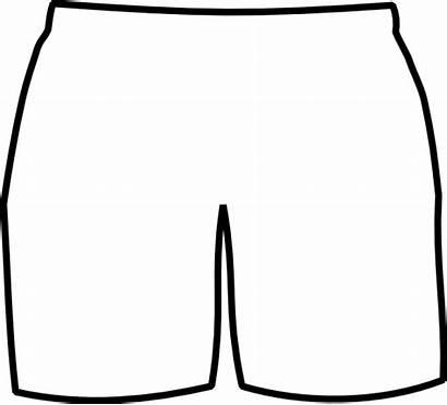 Shorts Boxer Clip Clipart Short Template Pants