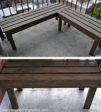 how to build a wood bench DIY Outdoor Wood Bench: 6 Steps (with Pictures)