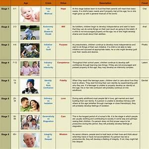 Eric Erickson U0026 39 S Psychosocial Development Chart