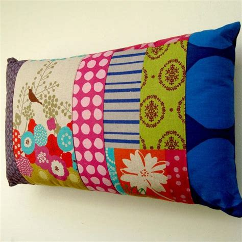 Patchwork Muster Modern by Modern Patchwork Pillow Cushion Cover Bright