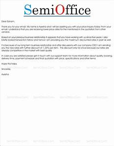 quotation letter sample in word With best price quotation letter