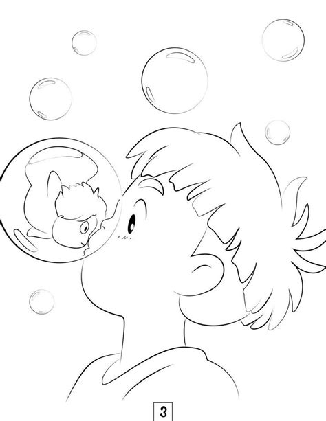 Studio Ghibli Coloring Pages | Studio ghibli art, Ghibli