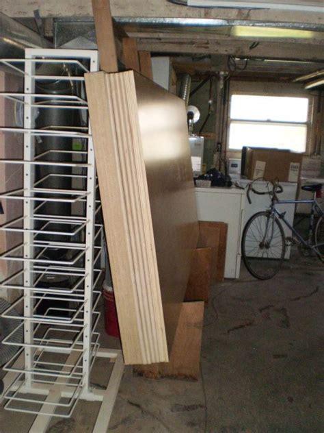 vertical plywood storage rack plans diy