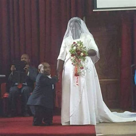 ugandan millionaire dwarf marries  beautiful woman