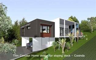 home design building blocks pole home designs sloping block modern house